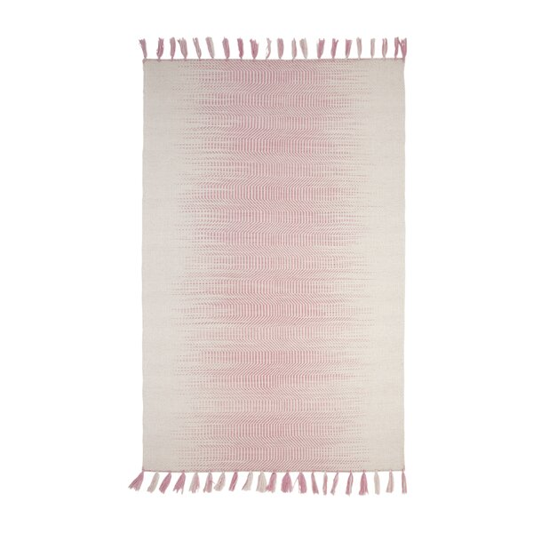 Briarden Hand-Woven Wool Pink/Ivory Indoor Area Rug by Bungalow Rose