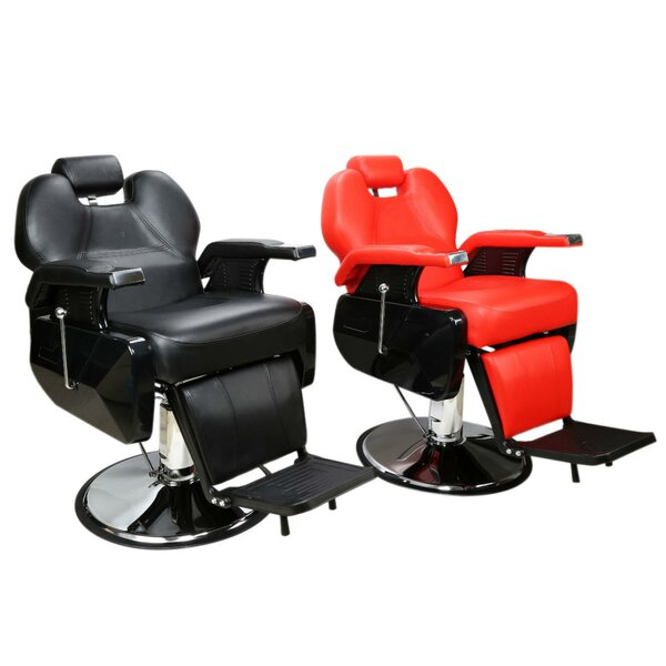 Tania Classic Hair Salon Iron Leather Sponge Barber Chair by Symple Stuff