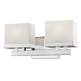 Price comparison Stratford 2-Light LED Vanity Light By Latitude Run