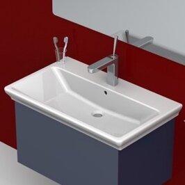 Arica Ceramic Rectangular Drop-In Bathroom Sink with Overflow