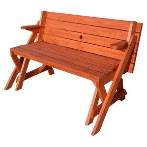 Luxton Convertible Wood Picnic Table U0026 Garden Bench