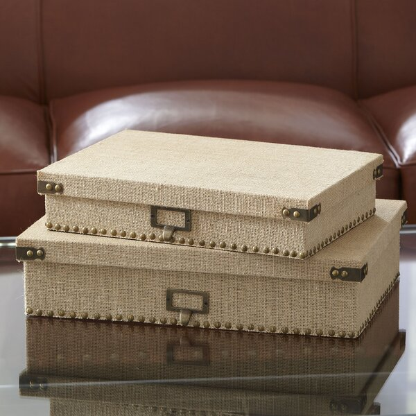 Ravenna Document Boxes (Set of 2) by Birch Lane™