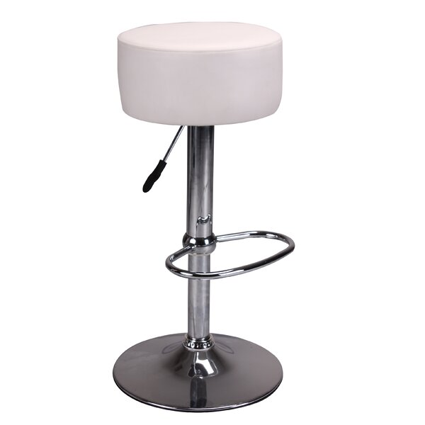 Fackler Adjustable Height Swivel Bar Stool by Ebern Designs