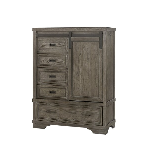 New Ashford Chifferobe 5 Drawer Combo Dresser by Three Posts