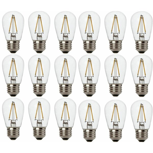 2W E26/Medium (Standard) S14 Medium LED Vintage Filament Light Bulb (Set of 18) by Newhouse Lighting