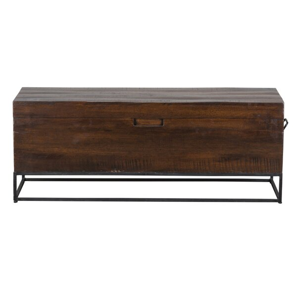 Woodacre Wood Storage Bench by 17 Stories