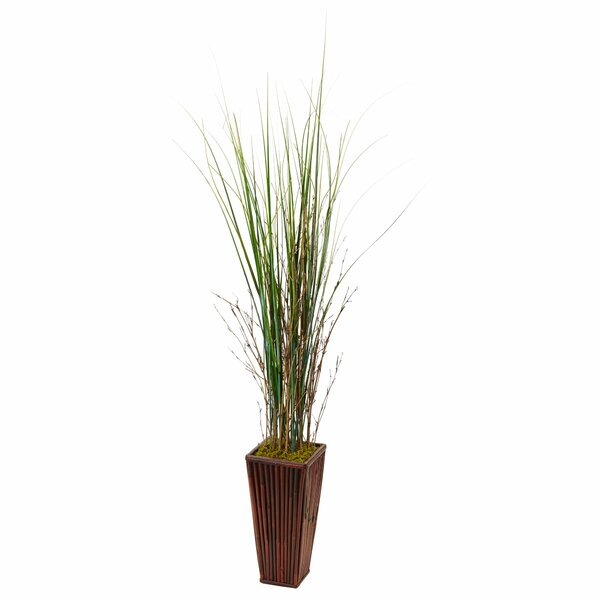 Artificial Floor Grass in Planter by Bayou Breeze