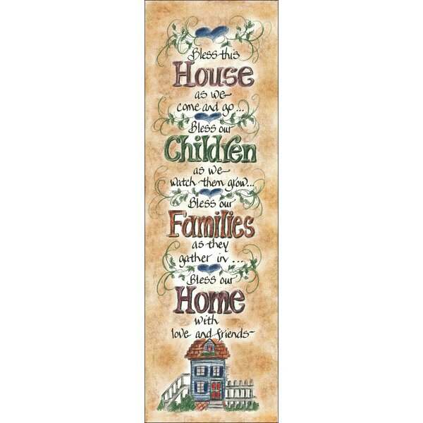 Life Lines Bless This House by Lori Voskuil-Dutter Textual Art Plaque by LPG Greetings