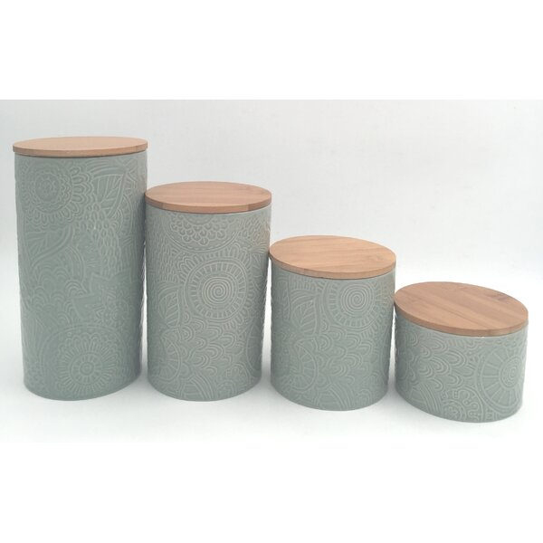 4 Piece Kitchen Canister Set by Laurel Foundry Modern Farmhouse