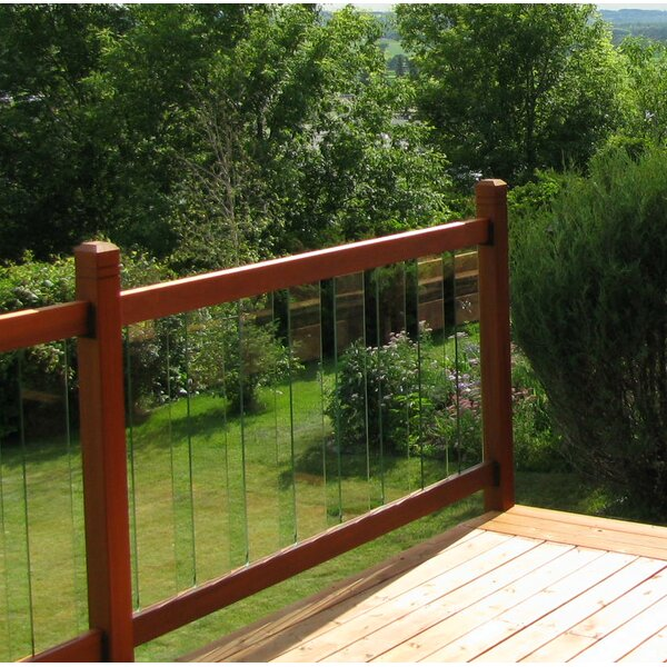 3 ft. H x 6 ft. W Clearview Straight Railing by Vista Railing Systems Inc