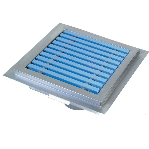 Floor Sump 4 Linear Grid Shower Drain by IMC Teddy