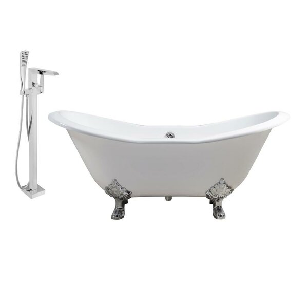 Cast Iron 72 x 31 Clawfoot Soaking Bathtub by Streamline Bath