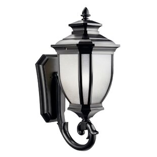 Order Greenview 1-Light Outdoor Wall Lantern By Three Posts