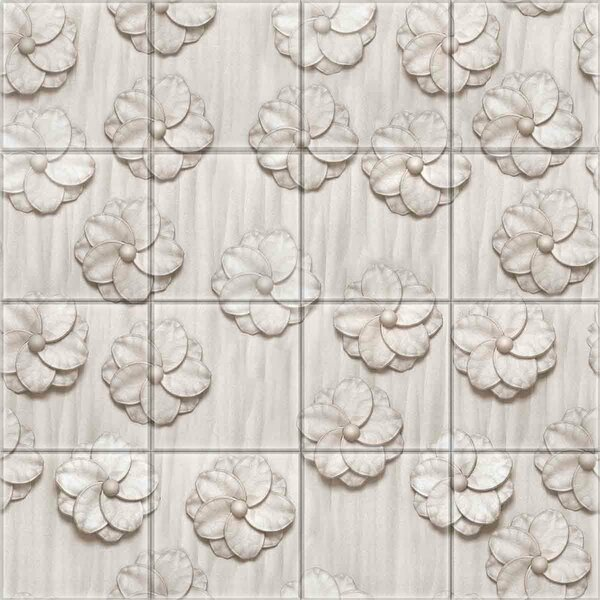 2 x 2 Glass Decorative Mural Tile in Gray by Upscale Designs by EMA