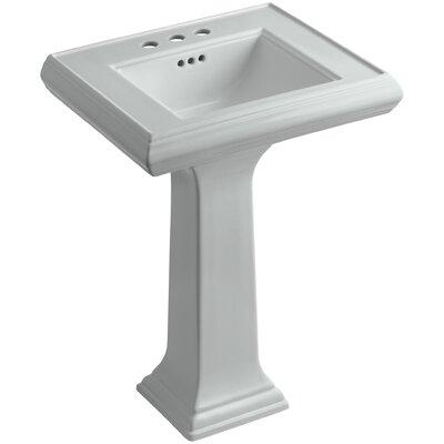 Pedestal Sink Ceramic Overflow Faucet Mount photo