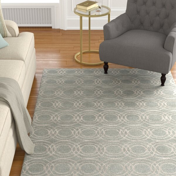 Meader Hand-Tufted Light Gray/Khaki Area Rug by Alcott Hill