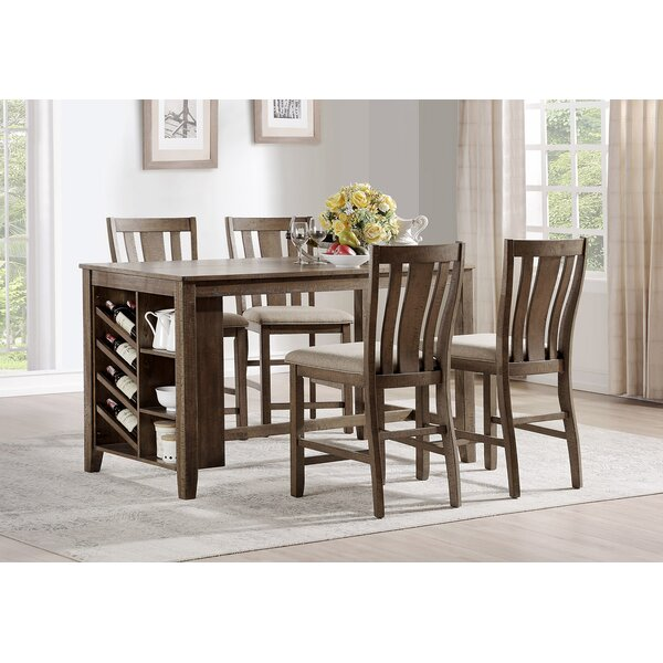 Manseau 5 Piece Pub Table Set by Loon Peak