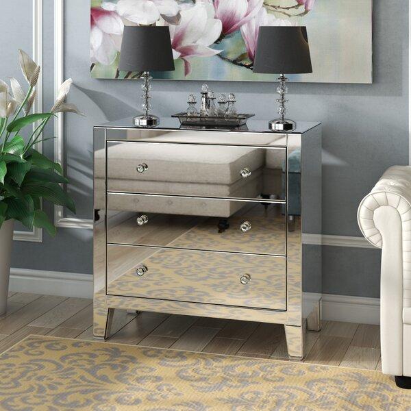 Clarence Clear Mirror 3 Drawer Standard Dresser by Rosdorf Park
