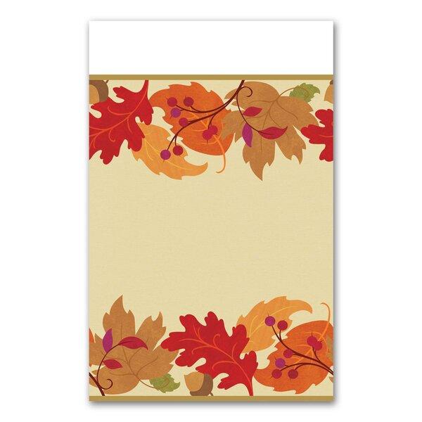 Autumn Festive Plastic Tablecloth by Amscan