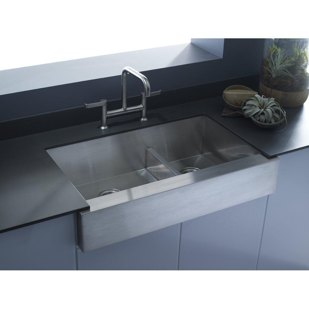 "Kohler Vault 35.5"" X 21.25"" Farmhouse/Apron Kitchen Sink"