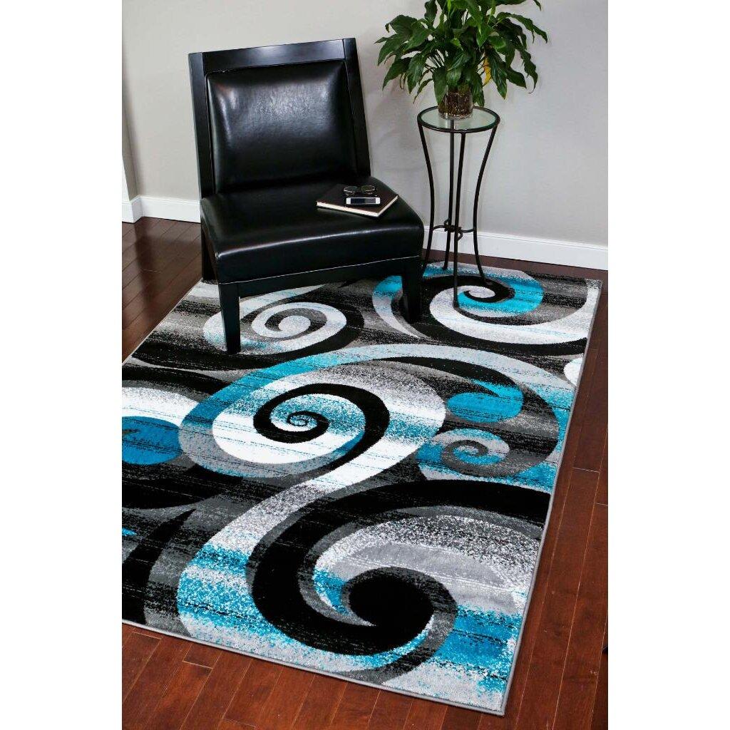 Saleya Turquoise Area Rug: Persian-rugs Avalon Turquoise Area Rug & Reviews