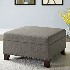 Robertsville Square Ottoman with Nailheads by Three Posts