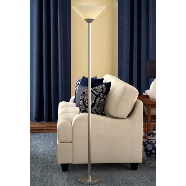 Staggs 73 Torchiere Floor Lamp by Charlton Home