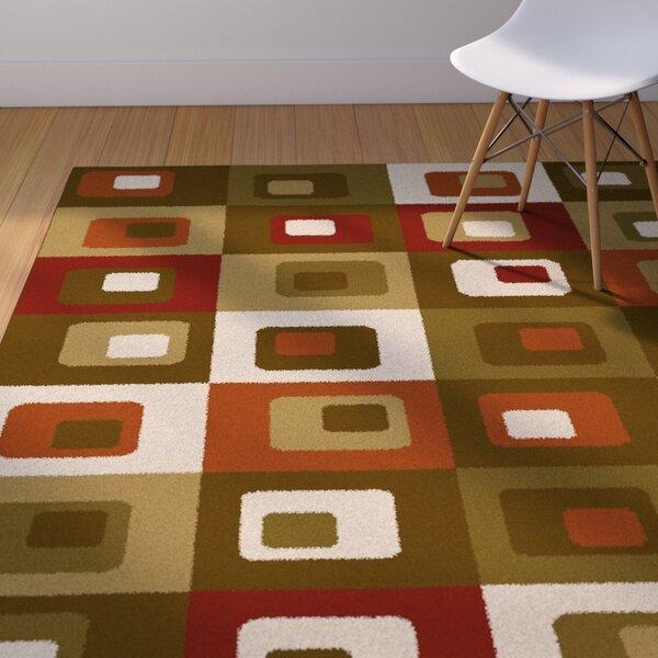 Justen Brown/Green Area Rug by Corrigan Studio