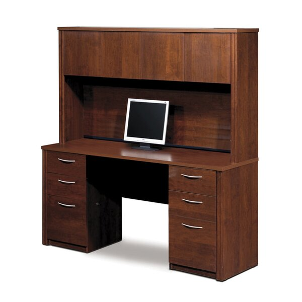 Karyn Executive Desk with Hutch by Latitude Run