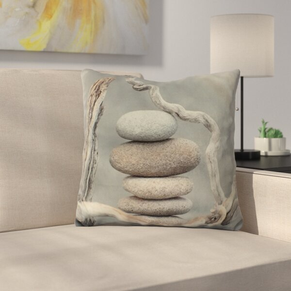 Crews Cairn with Wood Velvet Throw Pillow by Ebern Designs