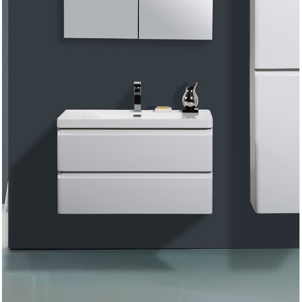 Mccarty 36 Wall-Mounted Single Bathroom Vanity by Orren Ellis