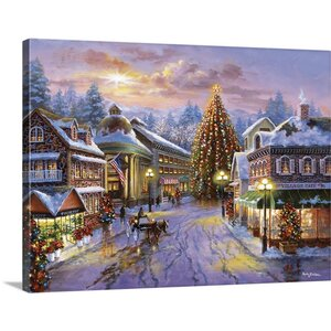 Christmas Art Christmas Eve by Nicky Boehme Painting Print on Wrapped Canvas by Great Big Canvas