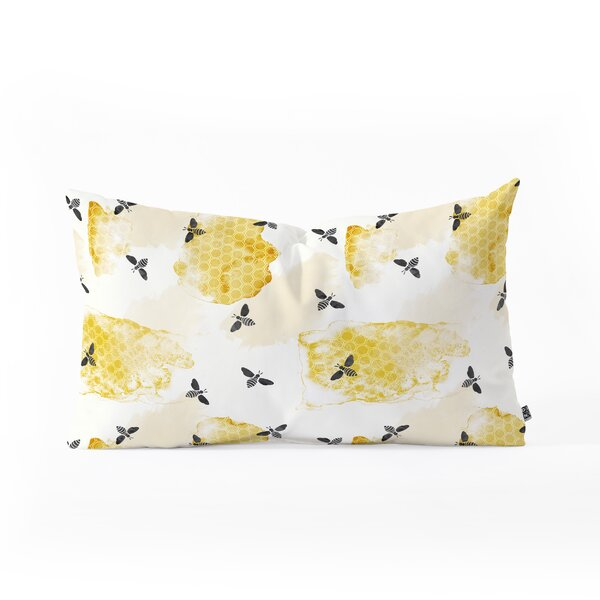 Little Arrow Bees Oblong Lumbar Pillow by East Urban Home