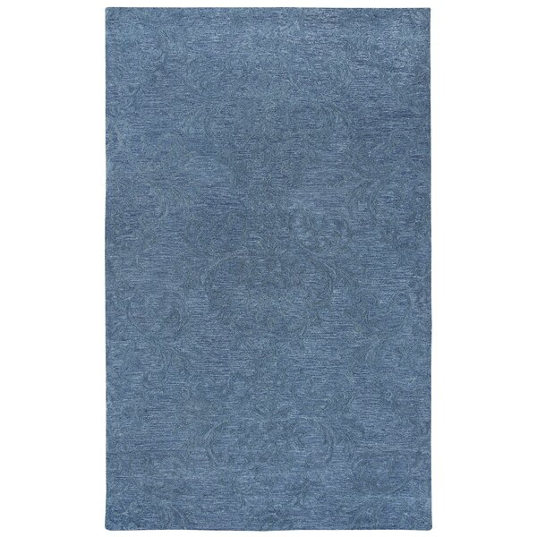 Etheredge Hand-Tufted Wool Blue Area Rug by Red Barrel Studio