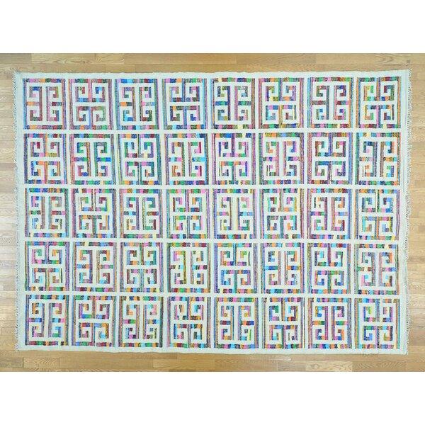 One-of-a-Kind Boylston Geometric Design Handmade Kilim Wool Area Rug by Isabelline