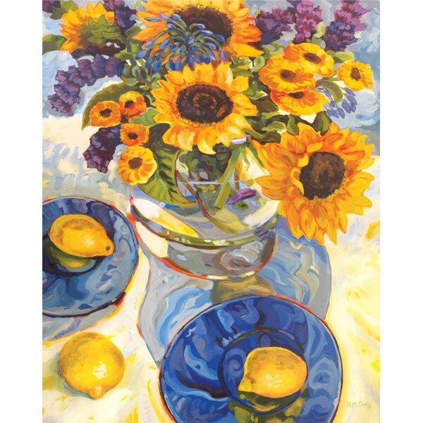 Sunflower & Lemons Canvas Print by Courtside Market
