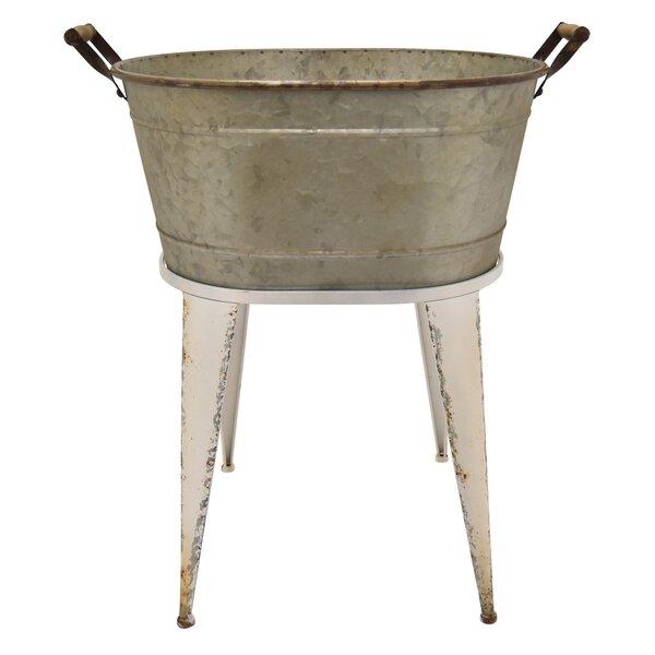 Oralie Wash Base Metal Pot Planter by Gracie Oaks
