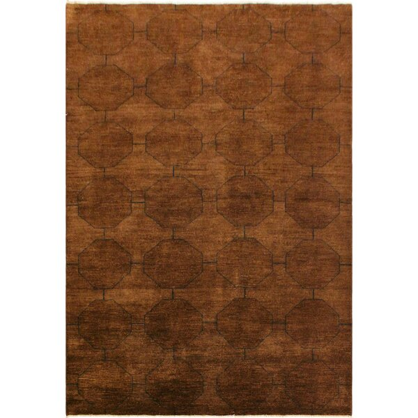 One-of-a-Kind Kyle Overdyed Color Reform Hand-Knotted Wool Brown/Blue Area Rug by Corrigan Studio