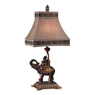 Top Reviews Hinderliter Monkey on Elephant Accent 23.5 Table Lamp By Bloomsbury Market