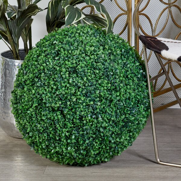 Polyester Ball Floor Boxwood Topiary by Cole & Grey