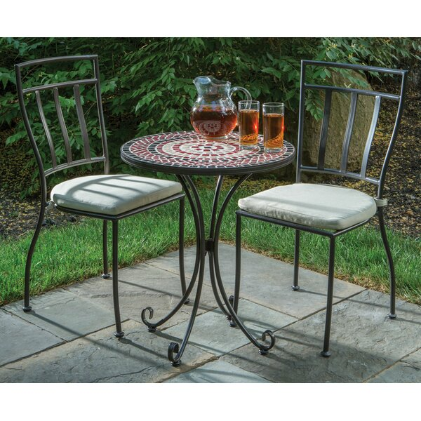 Boulevard 3 Piece Bistro Set with Cushions by Fleur De Lis Living