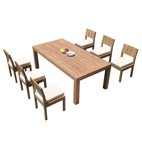 Mabini 7 Piece Teak Dining Set by Rosecliff Heights