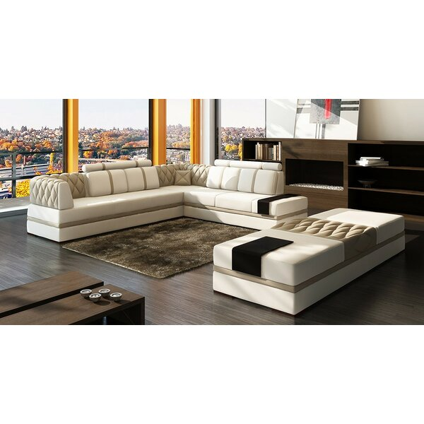 Magdalena Right Hand Facing Modular Sectional by Hokku Designs Hokku Designs