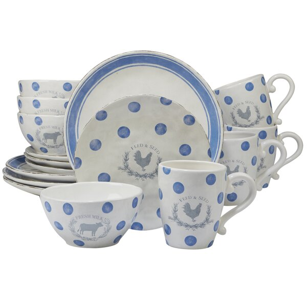 Fullerton 16 Piece Dinnerware Set, Service for 4 by August Grove
