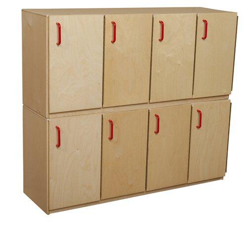 2 Tier 4 Wide School Locker by Wood Designs