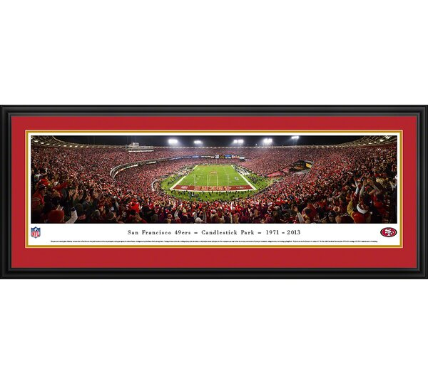 NFL San Francisco 49Ers - End Zone Farewell by James Blakeway Framed Photographic Print by Blakeway Worldwide Panoramas, Inc