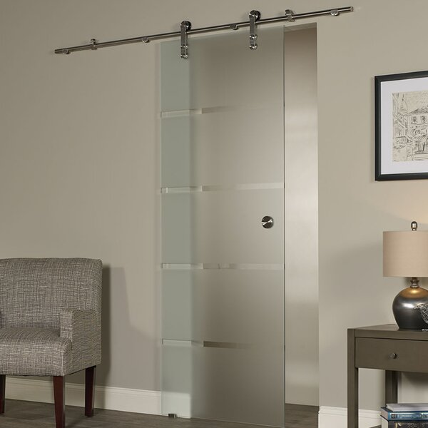 New Vision Contour Glass Interior Barn Door by LTL