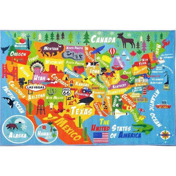 Zoomie Kids Weranna USA United States Geography Map Educational - Us geography map states