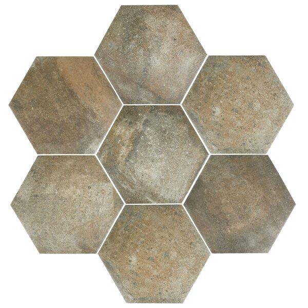 Victoria Ferro 14.13 x 16.25 Porcelain Field Tile in Greige by EliteTile
