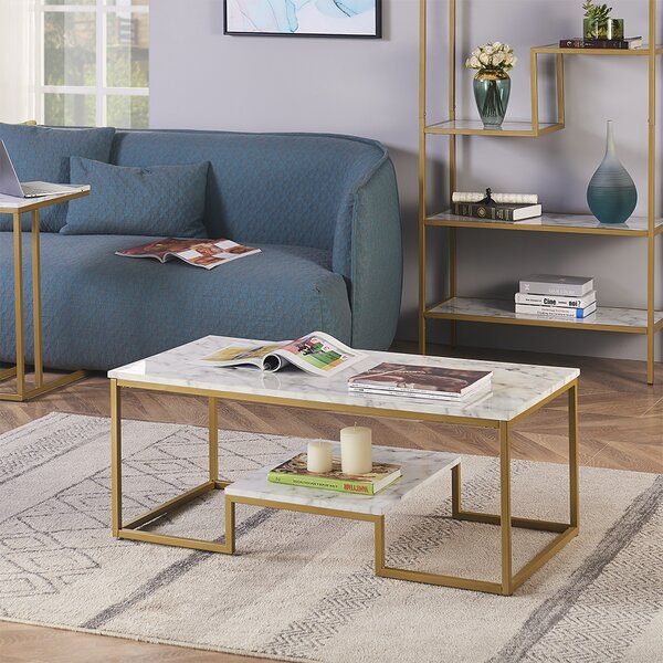 Deleo 2 Piece Coffee Table Set by Everly Quinn Everly Quinn